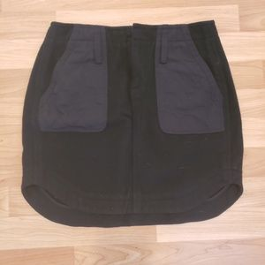Madewell wool mini skirt with pockets!
